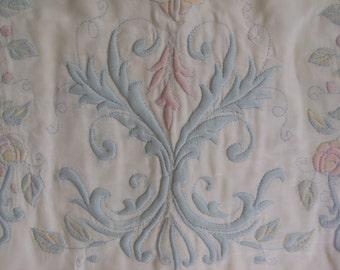 Vintage Silk Trapunto