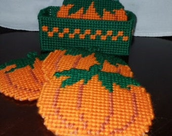 Pumpkin Coasters