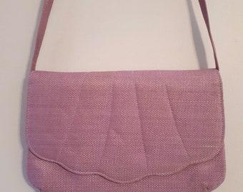 1960's Cabrelli pink seashell purse