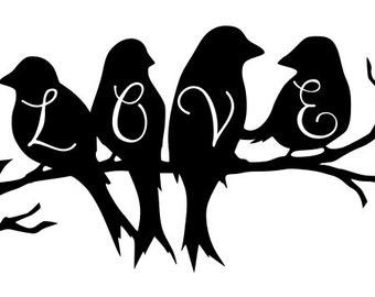 Love Birds SVG/DXF file