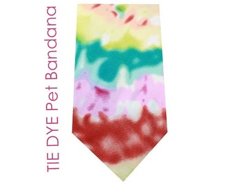 Tye Dye Dog BANDANAS for printing, vinyl, embroidery --poly/cotton blend -- Patterned Pet Bandana