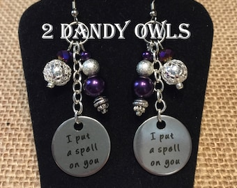 I put a spell on you-Hocus Pocus Inspired Dangle Earrings