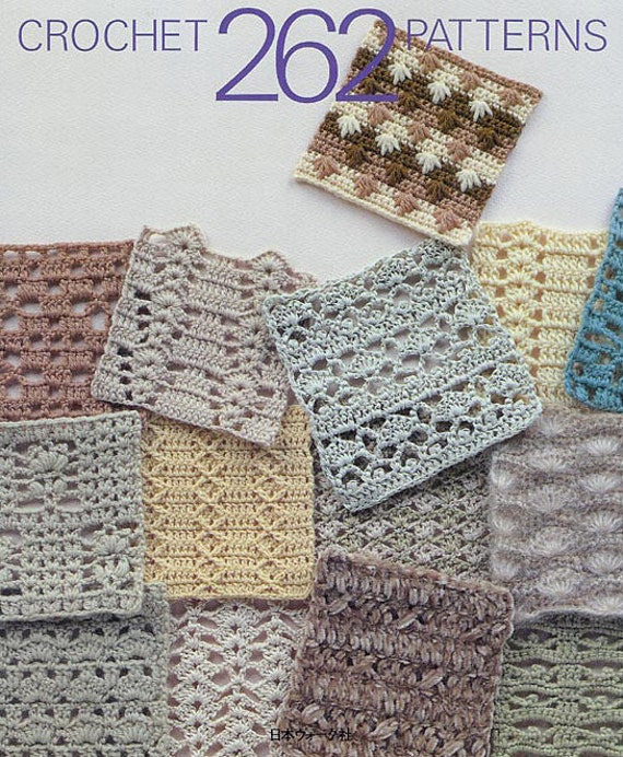Book of 262 crochet patterns for filet lace table cloth