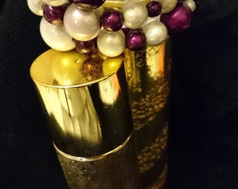 Original gift / wedding / Cuff Bracelet plum and vanilla