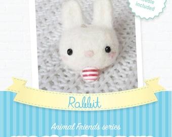 Rabbit - DIY wool felting kit