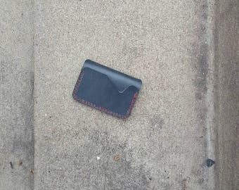 Acadia's Slate Grey Leather Bifold Wallet