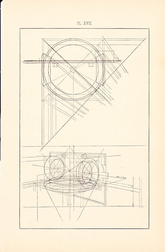 1885 technical drawing antique math geometric mechanical drafting 1885 technical drawing antique math geometric mechanical drafting interior design blueprint art illustration framing 100 years old from holcroft on etsy malvernweather Image collections