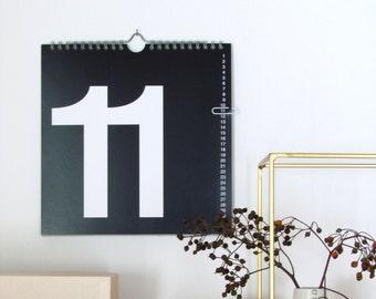 the perpetual calendar - wall calendar  2016 year calendar print month calendar black