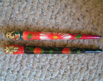 Vintage Russian Matryoshka Doll Pens---Hand-Painted---From The 1980's