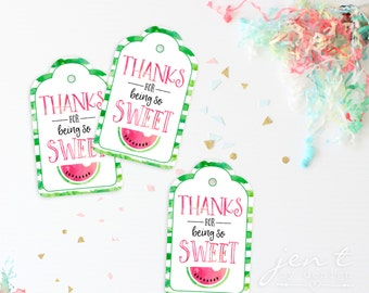 Watermelon Party | Watermelon | Watermelon Tags | Watermelon Birthday | Favor Tags | Thank You Tags | Watermelon Favors | Watermelon Tag
