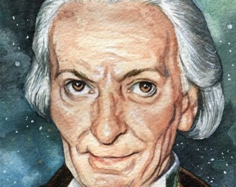 Doctor Who William Hartnell 4 x 6 Reproduction Art Print