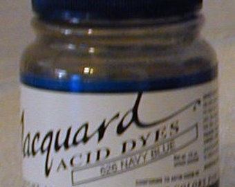 Navy Blue 626 Jacquard Acid Dye for Wool, Silk, Feathers, Nylon, any protein (animal) fiber. Add vinegar and heat to powder.
