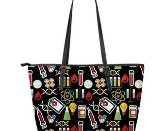 Leather Tote Bag For Phlebotomist/Phlebotomy/Phlebotomy Technician or Anyone Into Phlebotomy - Gift For Phlebotomist, Phlebotomy Technician