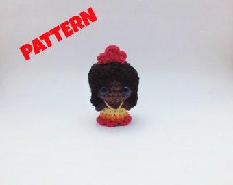 Fire Element Doll Pattern, Crochet Doll Pattern, Amigurumi Doll Pattern, Crochet Patterns, Amigurumi Patterns, Crochet Amigurumi Pattern