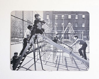 1960's Educational Poster / Black and White Photography / XL Double sided / Mid Century Art