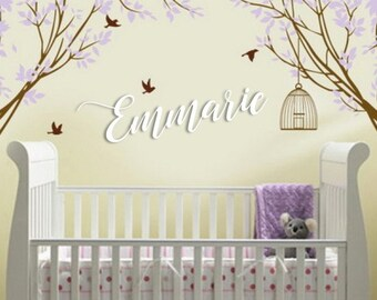 Wooden Name Backdrop Nursery Baby Kids Room Sign Signage