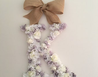 Floral Wedding Nursery Initial