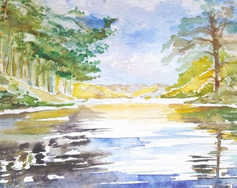A Lakeside Landscape