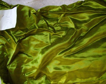 NO. 216 FABRIC CHANGING KHAKI GREEN SATIN