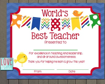 Elegant Best Teacher Certificate Templates Free