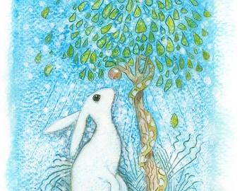 Treegazer by Ann Richmond - A Signed, Ltd. Ed. Giclee Print.