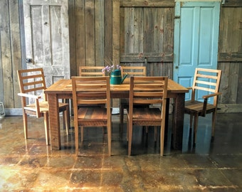 Farmhouse table and chairs | Etsy