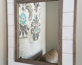Shiplap Mirror with Reclaimed wood