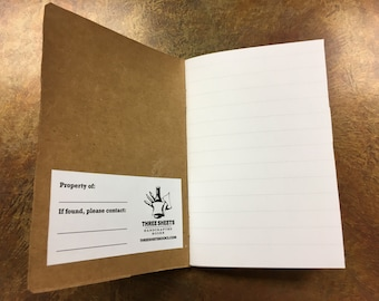 Pocket notebook made from a Bells Brewery Oatsmobile box