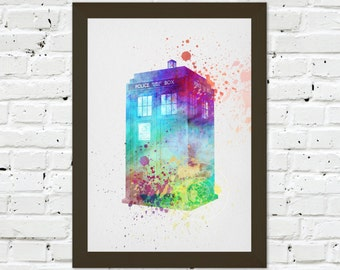 0067 Dr Who Tardis A3 Wall Art Print Multiple Sizes