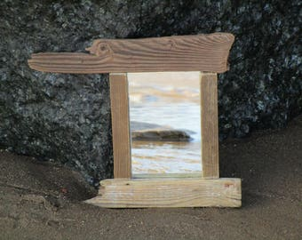 Mirror - Wall Mirror - Nautical Mirror - Small Mirror - Reclaimed Wood  - Upcycled - Rectangle Wooden Mirror - Home Decor - Driftwood