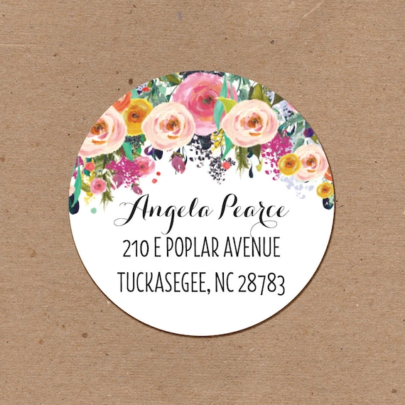 2 inch round personalized address labels stickers circle