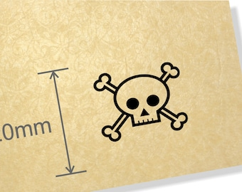 Clear Acrylic Stamp. Skull and Crossbones stamp, pirate stamp