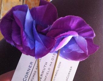 Purple petals Hair Pins