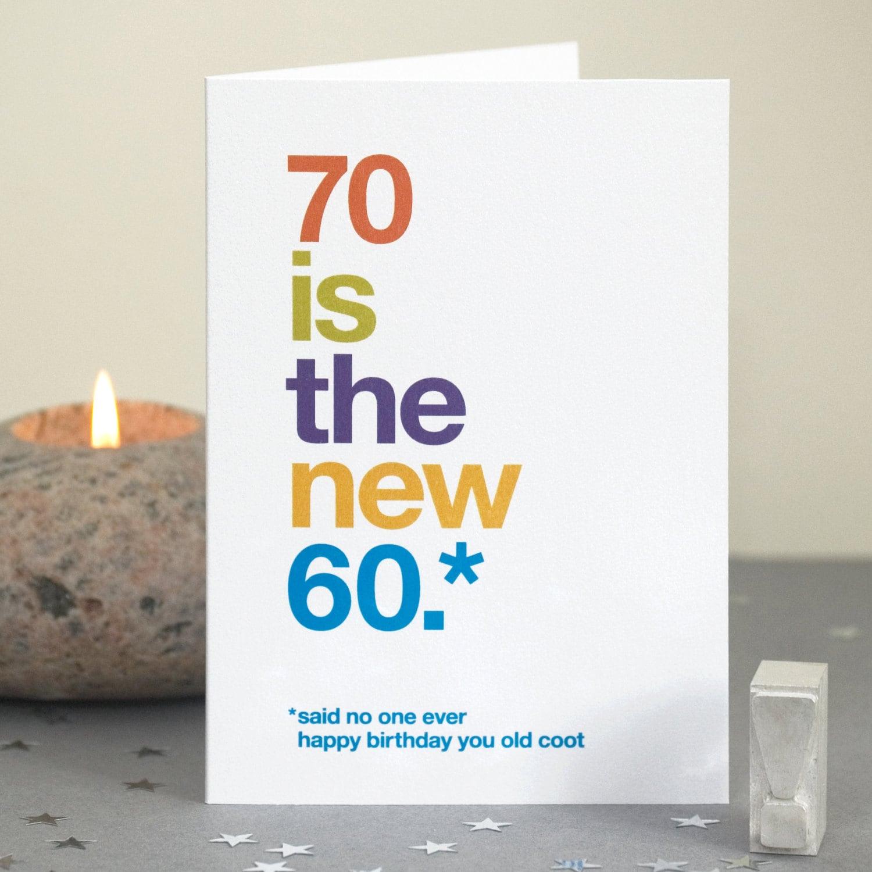 Quotes 70Th Birthday Funny 70Th Birthday Card 70 Card Sarcastic 70Th Birthday