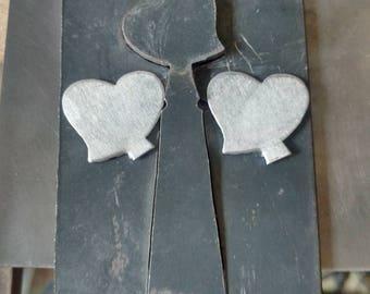 Heart pancake die - handmade steel die