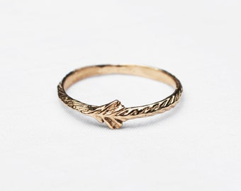 14k Gold Tiny Sprout Rings