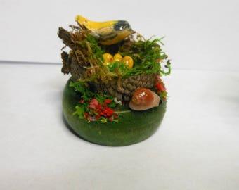 Birds With Bird Nest/Eggs-Choice of 3 Different Styles-OOAK-Goldfinch/Bluebird