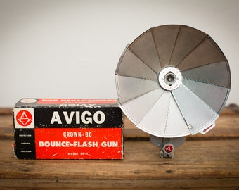 Avigo Bounce-Flash Gun, Crown-BC Model BF-1, Original Box, Vintage 60s