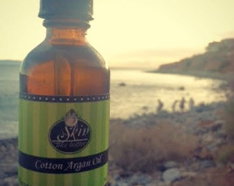 Cotton ORGANIC ARGAN OIL || Cold Pressed || Available in a 2 or 4 oz glass bottle || Luxurioius Body Oil  and Hair Oil
