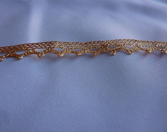 8mm Gold Scallop Lace Trim (per meter)