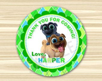 Puppy Dog Pals Thank You Tag. Puppy Dog Pals Favor Tag. Puppy Dog Pals Sticker. Diy Puppy Dog Pals Birthday Party.
