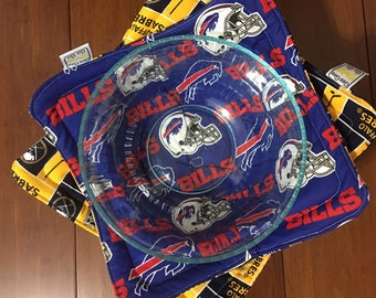 Buffalo Sports / Microwave bowl cozies SET OF TWO