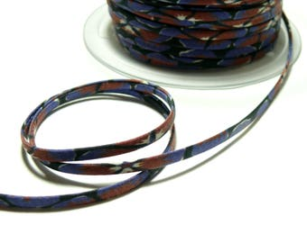 Ribbon cord 5mm mat bias spaghetti Periwinkle Blue night 1800991002 for jewelry making