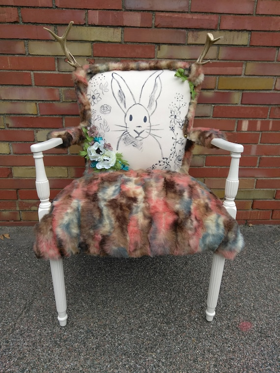 Rustic Jackalope Accent Chair
