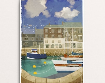 Padstow - Signed Cornish Coasts Giclee Print