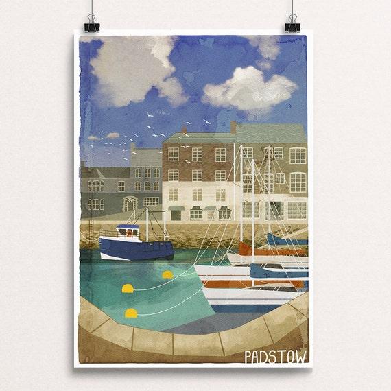 Padstow - Signed Cornish Coasts Giclee Print