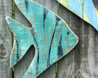 Fish Wall Art, Gone Fishing, Fish Decor, Fishing Decor, Angel Fish, Tropical Fish, Fishing Gift, Fish, Nautical Art, Wall Fish, Hanging Fish