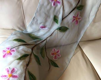 Scarf-  Nuno Felt Silk scarf