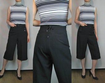50s Wool SAILOR Culotte Pants