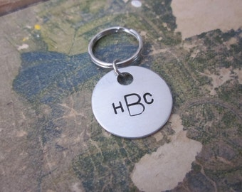 The Melvin Key Chain - CUSTOM Initials Monogram Keychain